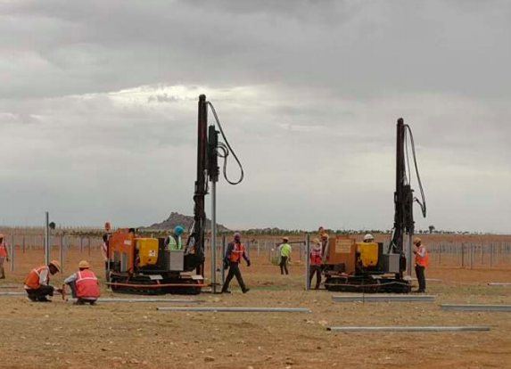 100 MW Pavagada Karnataka Ramming